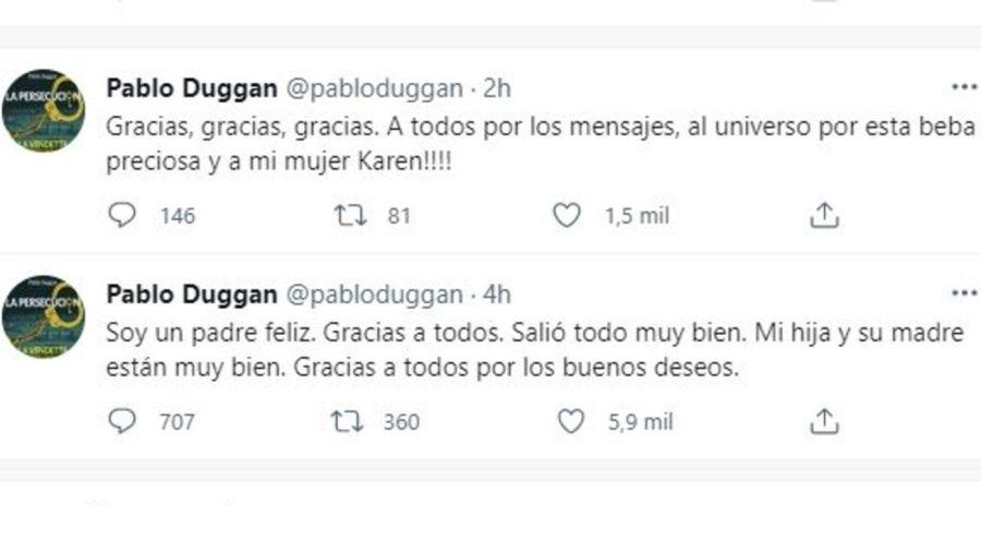 Pablo Duggan fue papa