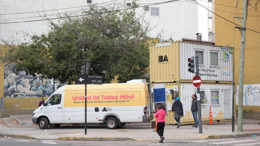 Unidades móviles de testeos en barrios populares. 20210630