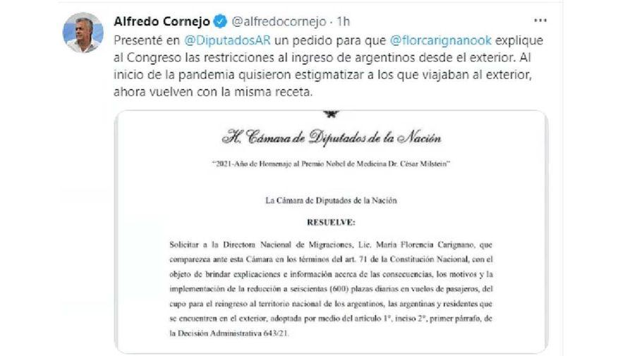 Alfredo Cornejo twitter- 20210701