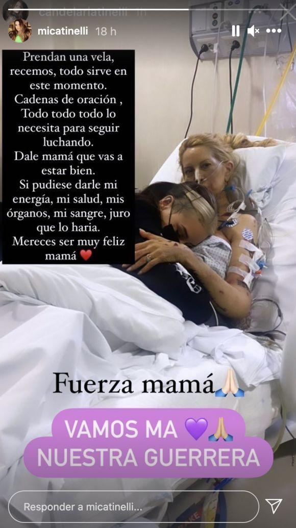 El mensaje de Mica Tinelli a su mamá por su delicado estado de salud