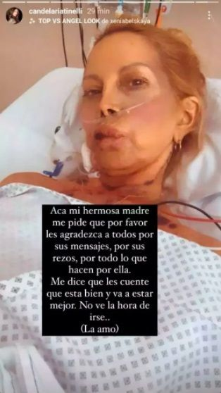 Cande Tinelli mostró cómo está Soledad Aquino desde la clínica