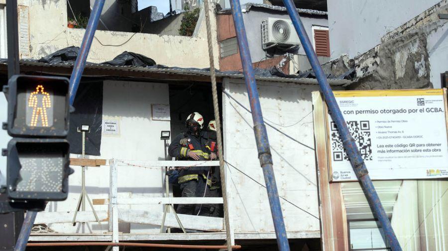 derrumbe de obra en construcción en Palermo 20210702
