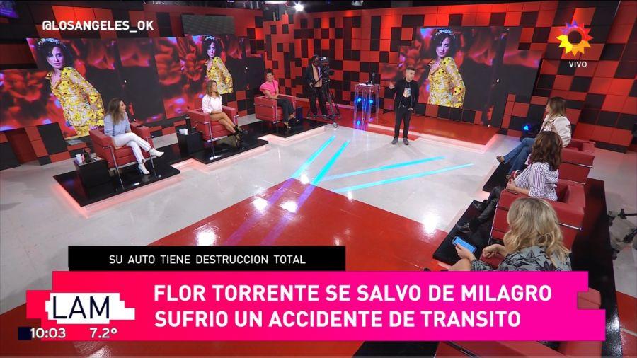Flor Torrente fue protagonista de un feroz accidente:
