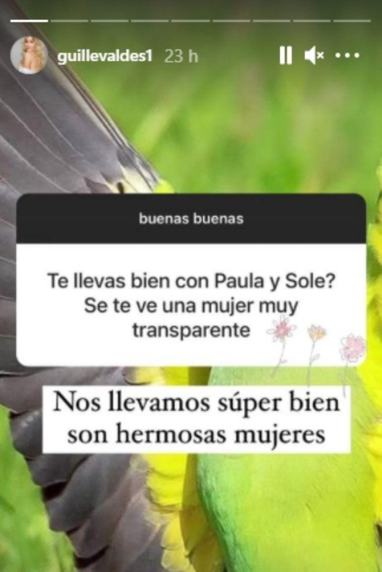 Guillermina Valdés habló de su relación con las dos ex de Marcelo Tinelli