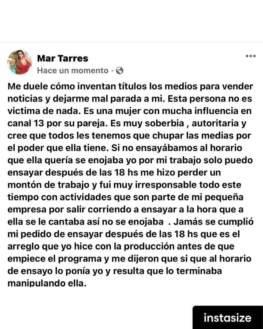 Mar Tarrés renunció a La Academia e hizo un fuerte descargo contra su coach