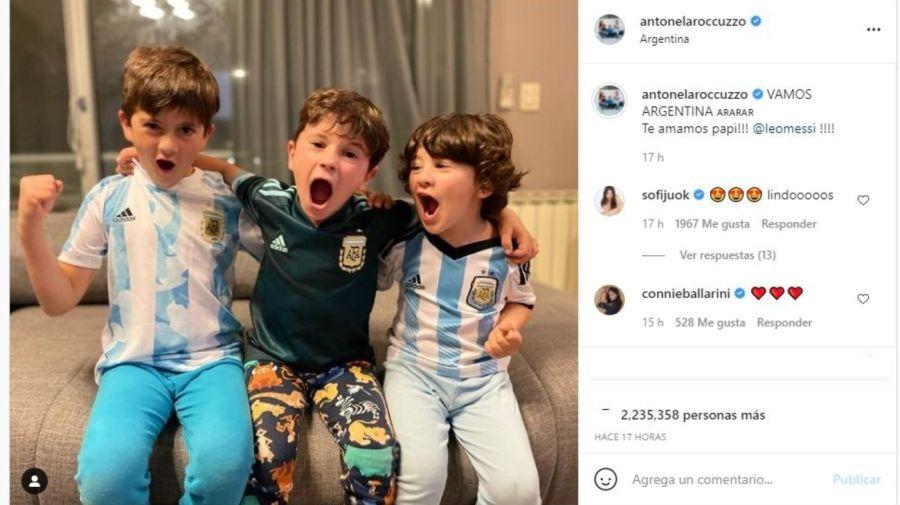 Mensaje hijos Messi