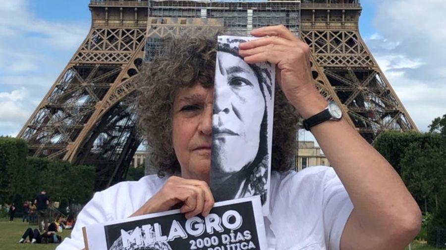 París Protesta Milagro Sala