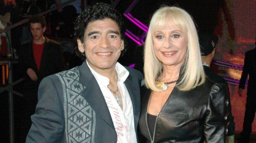 El icónico momentodeRaffaellaCarràcantando juntoa Diego Maradona
