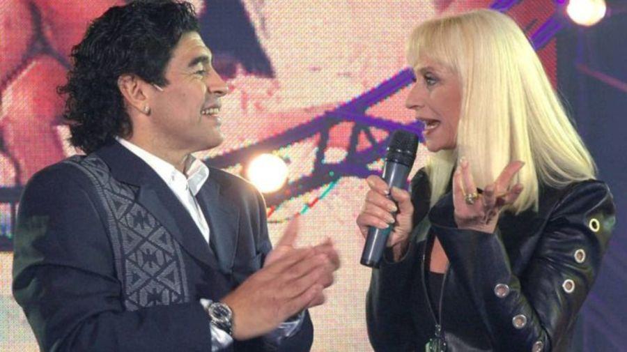 Raffaella Carra y Diego Maradona