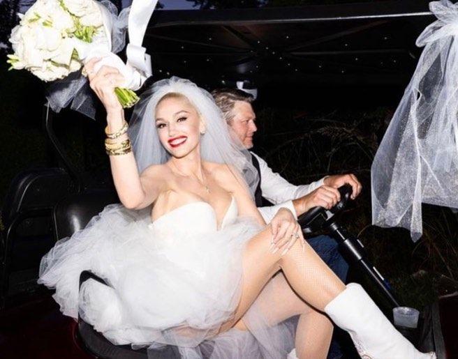 Gwen Stefani se casó con Blake Shelton en una ceremonia íntima