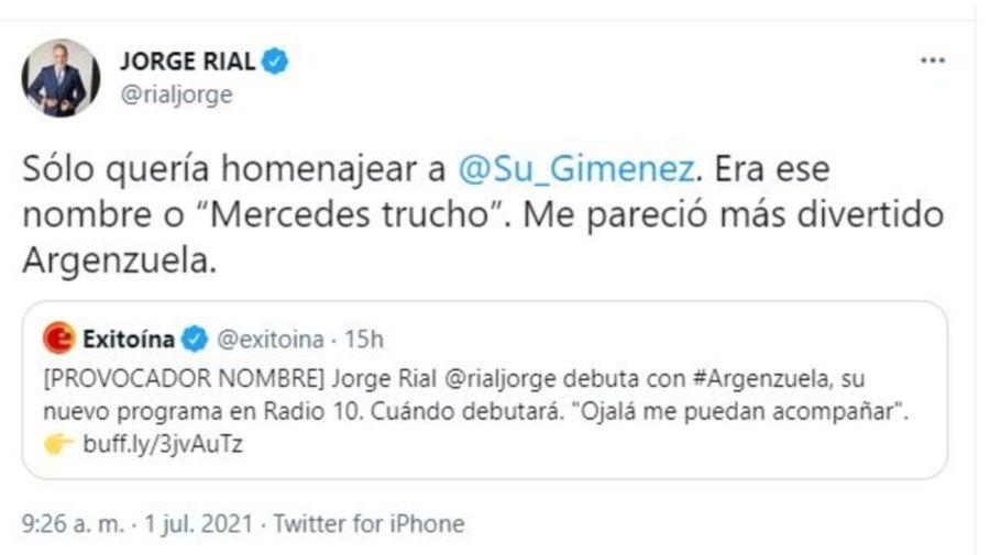 Jorge Rial Tuit 0607