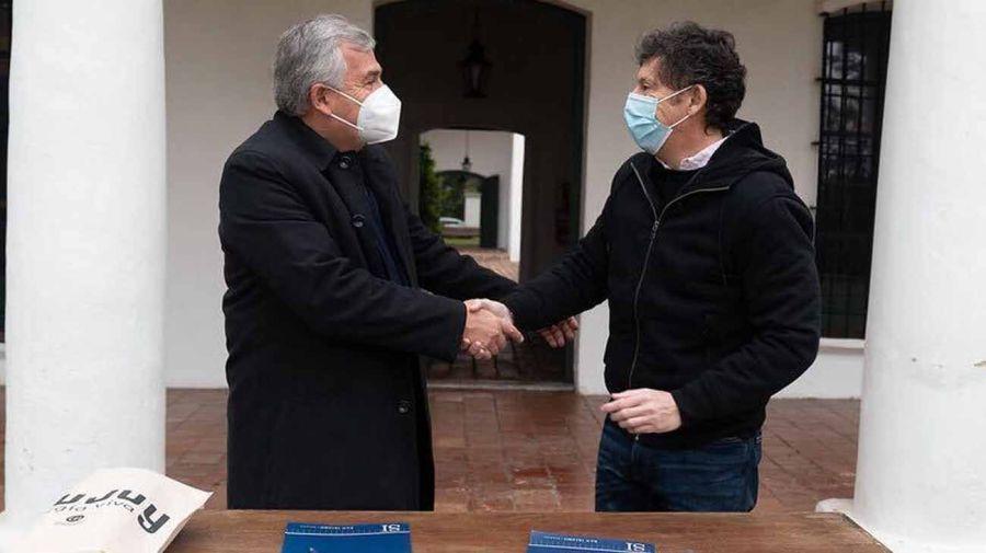 Gerardo Morales y Gustavo Posse 20210708