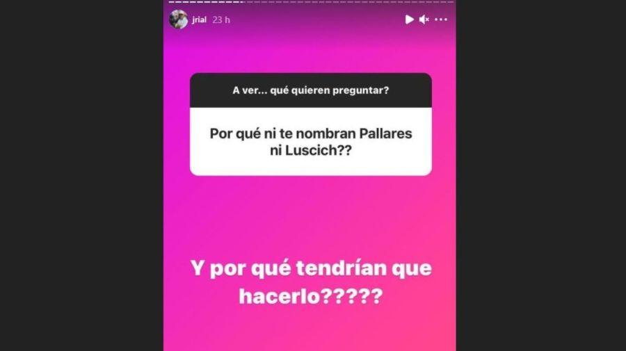 Mensaje de Jorge Rial sobre Adrian Pallares y Rodrigo Lussich