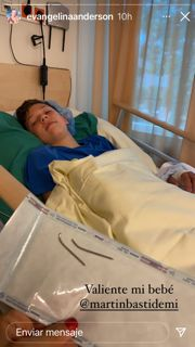 Bastian, el hijo de Evangelina Anderson, fue operado y ella mostró toda su orgullo