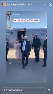 Mirá el look de Fabiola Yañez en su visita a Tucumán junto al Presidente por el 9 de julio