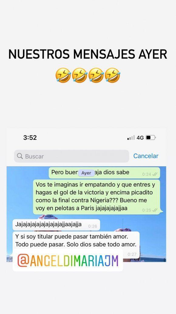 La premonición de la esposa de Ángel Di María: