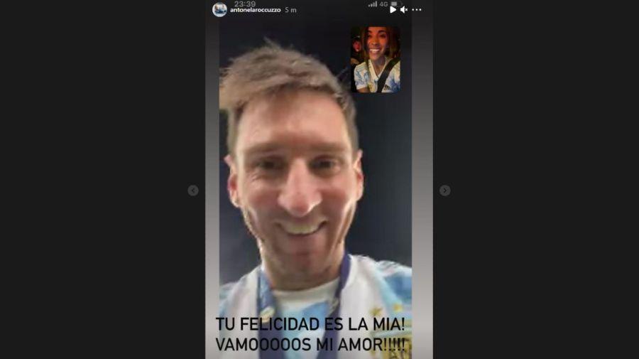 Videollamada Lio Messi y Antonela Roccuzzo