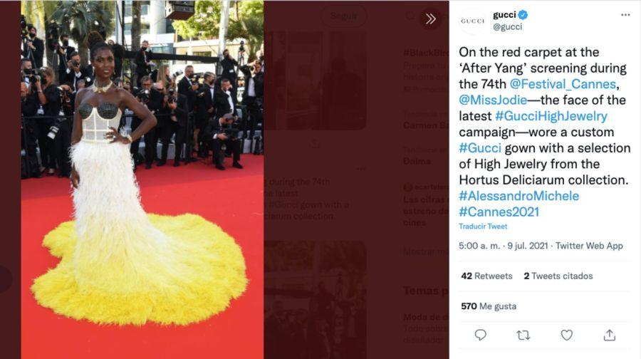 Festival de Cannes: en plena celebración robaron las joyas que lucía Jodie Turner Smith