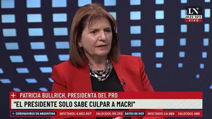 Patricia Bullrich contra Alberto Fernandez