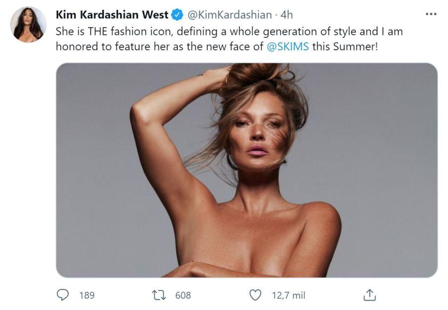 Kate Moss para Kim Kardashian