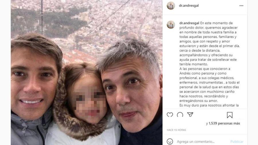 Mensaje familia Andres Galfrascoli