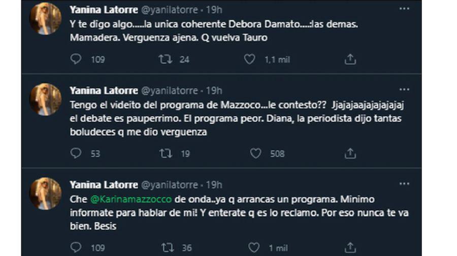 Yanina Latorre tuit 1307