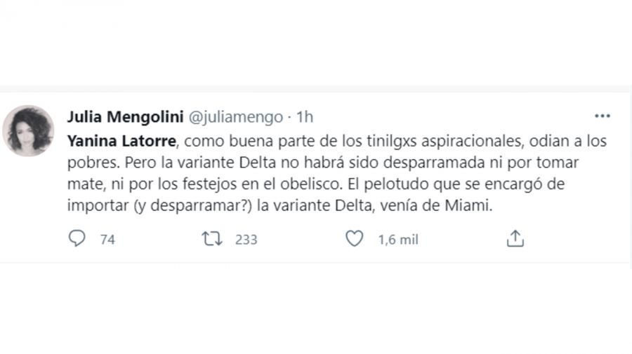 Julia Mengolini tuit 1407