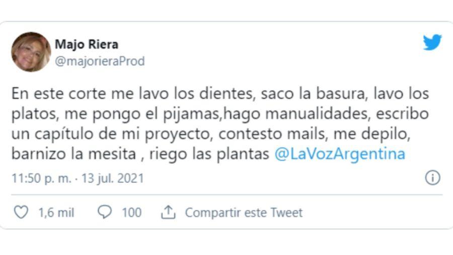 El picante comentario de mamá de Lali Espósito sobre La Voz Argentina