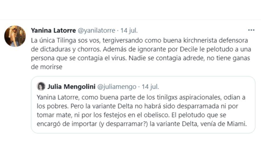 Yanina Latorre tuit 1507