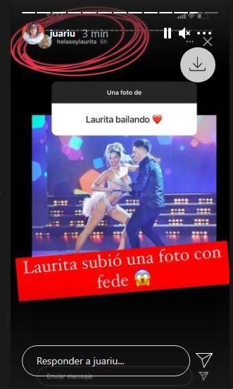 Laurita Fernández sorprendió en las redes y subió una foto con Fede Bal