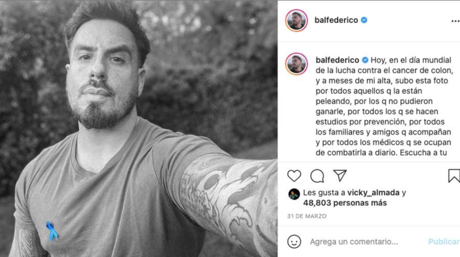 Luego de vencer al cáncer, FedericoBalhizo un rotundo cambio de vida