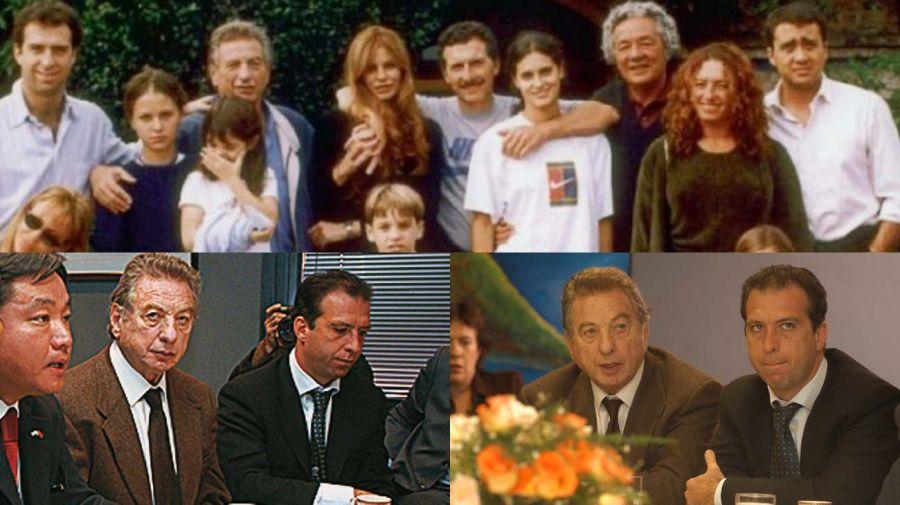 """PROXIMIDAD. Mariano Macri fue el hijo más próximo a Franco: """"Fui la oreja de su vida"""". Una foto de familia con hermanos y sus hijos en los tiempos sin conflicto."""