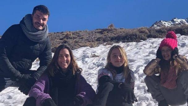 Las vacaciones familiares de Soledad Pastorutti en Mendoza