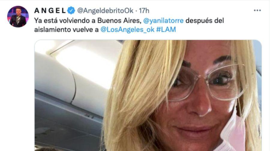 Yanina Latorre logró regresar a Buenos Aires