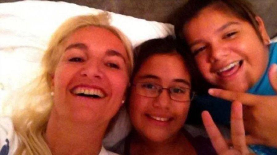 Silvia D'Auro, Rocio y Morena Rial