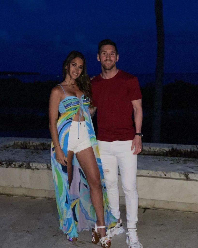 El look de Antonela Roccuzzo para las noches de Miami