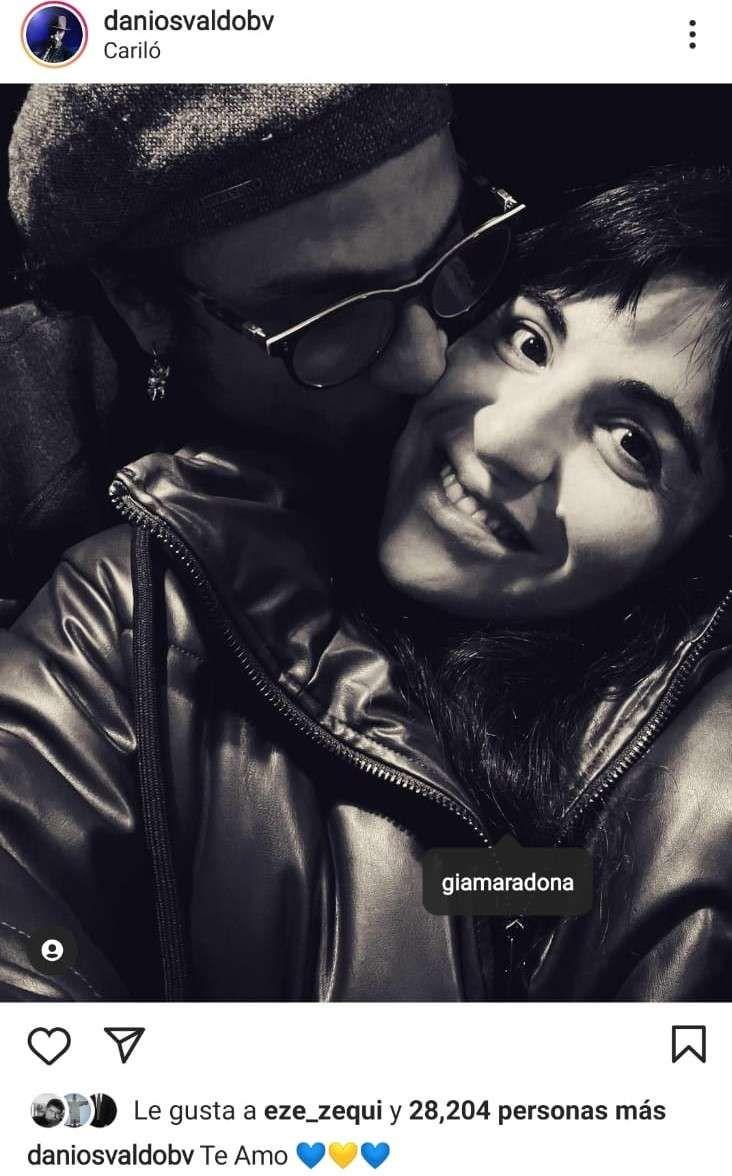 Gianinna Maradona y Daniel Osvaldo ya no ocultan su romance