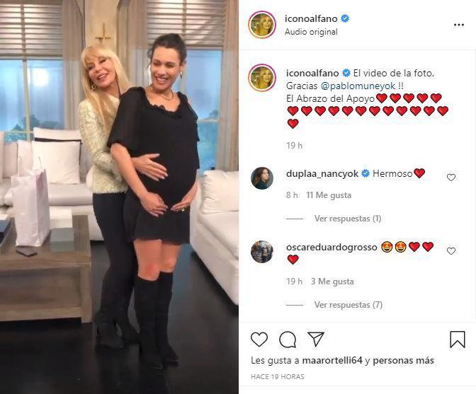 El tierno gesto de Graciela Alfano a Pampita a días de convertirse en mamá
