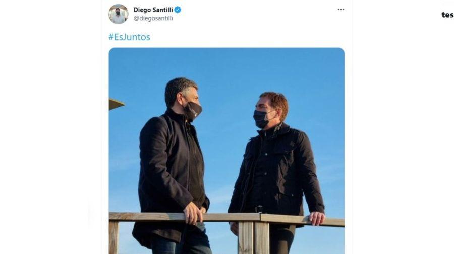 Jorge Macri y Diego Santilli