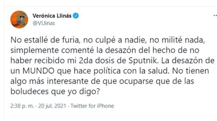 Veronica Llinas contra las criticas