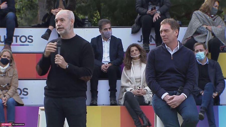 Acto de Diego Santilli en La Plata 20210722