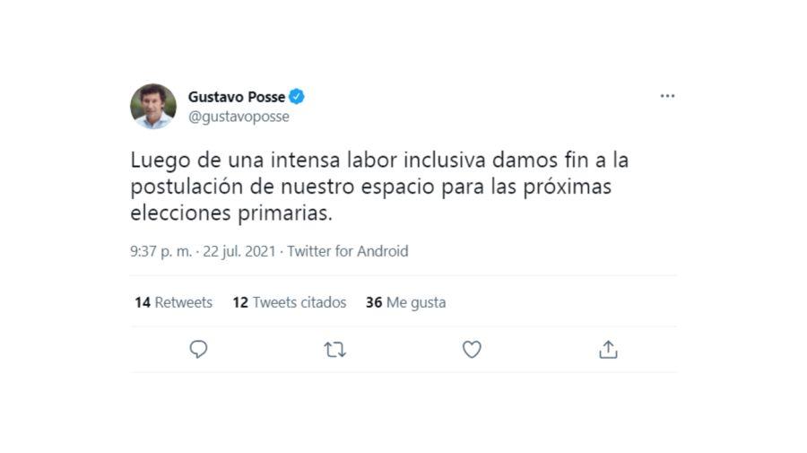 Gustavo Posse Tuit