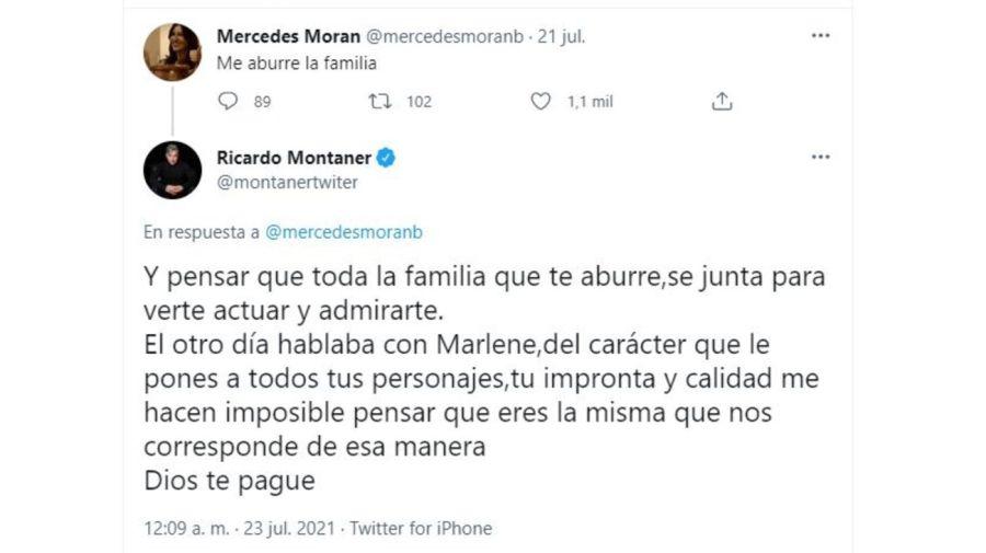 Ricardo Montaner contra Mercedes Moran