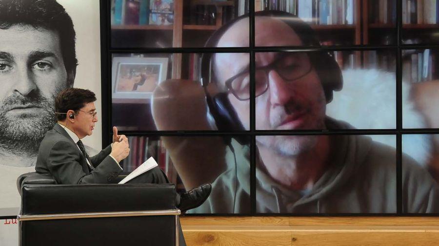 Ernesto Semán, en la entrevista con Jorge Fontevecchia.