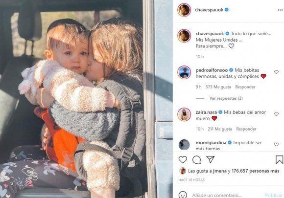 Paula Chaves sobre el vínculos de sus hijas