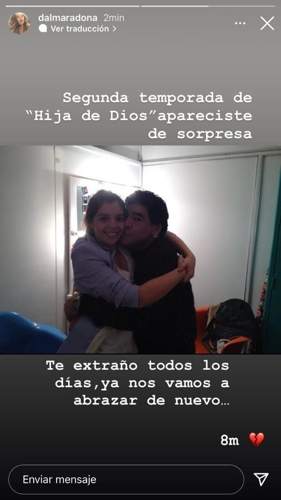 El posteo de Dalma Maradona a ocho meses de la muerte de Diego