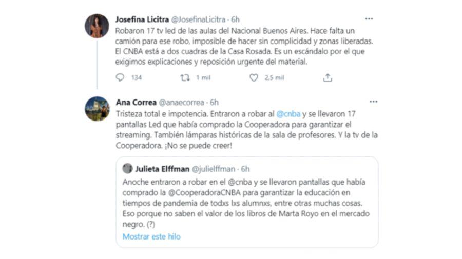 Robo Colegio Nacional Buenos Aires