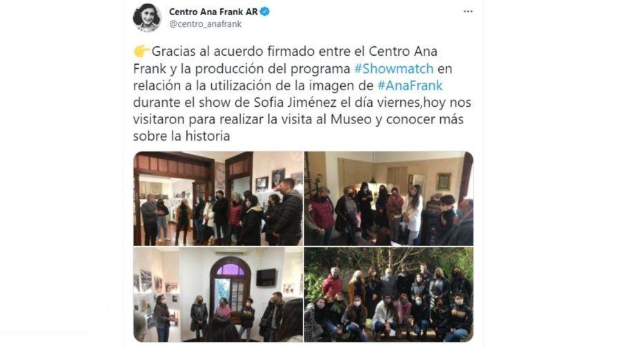 Visita Showmatch al Centro Ana Frank