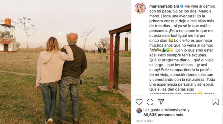 MarianaFabbianidecidió tomarse vacaciones sola, tras el fracaso de su programa