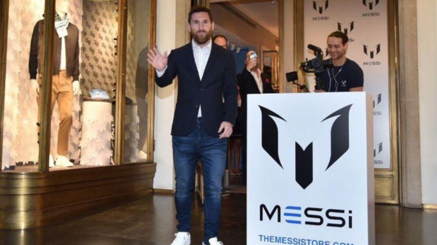 Messi en el lanzamiento de The Messi Store